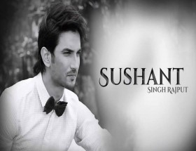 Bollywood actor Sushant Singh Rajput black and white wallpaper