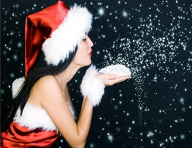 Christmas wishes hot santa girl image
