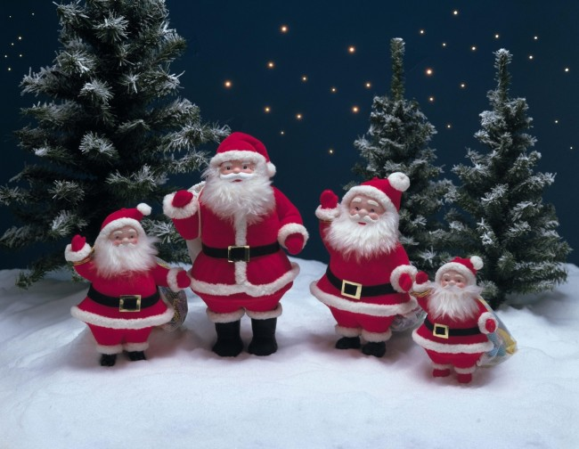 Christmas wishes with santa claus