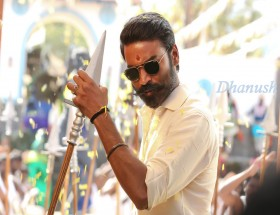 Dashing Dhanush Muchh style angry look wallpaper