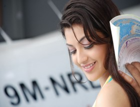 Kajal Aggarwal cute smile close up face hd wallpapers