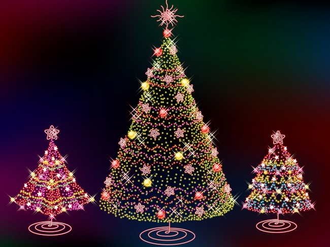 Latest Christmas tree wide images