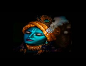 Lord Krishna face mobile pics free download