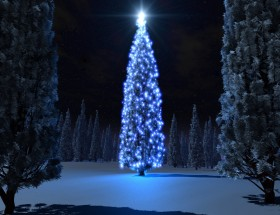 Merry Christmas tree beautiful lighting hd images free 2020