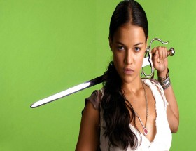 Michelle Rodriguez angry with sword hd wallpaper