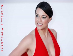 Michelle Rodriguez sleeveless red dress hd wallpapers