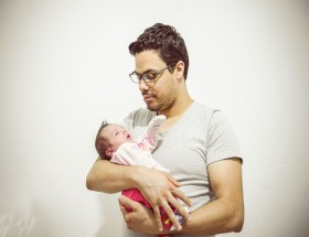 New born baby with father Father's Day 2020 images