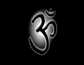 Om black wallpapers with black background
