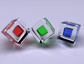 Red green blue 3d square hd wallpaper