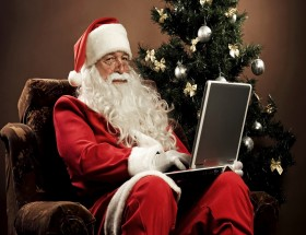 Santa clause online gift wallpaper 2020
