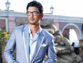 Sushant Singh Rajput blue blazer with goggles photos