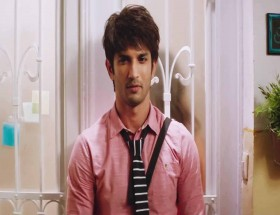 Sushant Singh Rajput in pink shirt and tie images