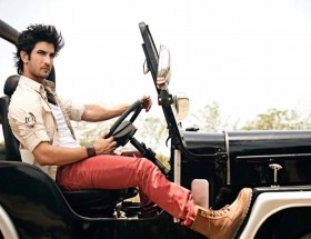 Sushant Singh Rajput stylish photo with car