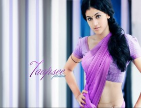 Taapsee Pannu in saree photos hd