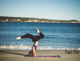 Yoga day beach wallpapers