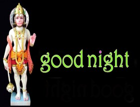 good night images with lord hanuman
