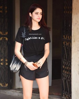 Ananya Pandey show hot legs in gym costume photos