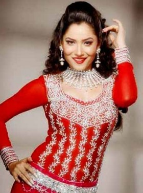 Ankita Lokhande red dress photos